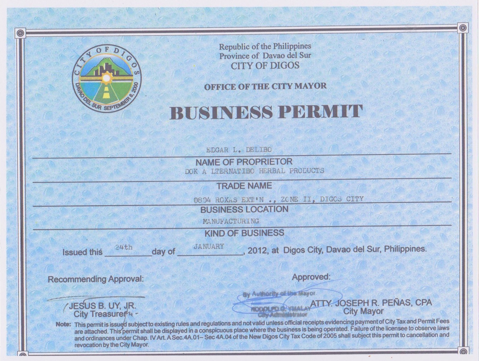 Permits For Business Philippines Business Permit Philippines