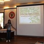 Miss Jonica Tiongco during the Orientation of the Dok Alternatibo Group of Companies Profile