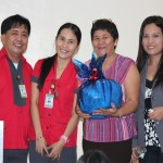 (From Left to Right ) Dok Vince Lambac, DMNH; Chariza Bastasa, NHC; Mam Gumban, 1st Grand Prize Winner and Dok Syreen Te, DMNH