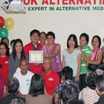 During the Awarding of Certificate to the 24K Survivors
