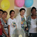 (From L to R) Dok Glendy Sanico, DMNH and Lecturer with the survivors of Midsayap Branch together with Dok  Mae Ann Ruz (Middle)