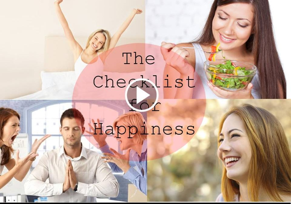 The Checklist for Happiness